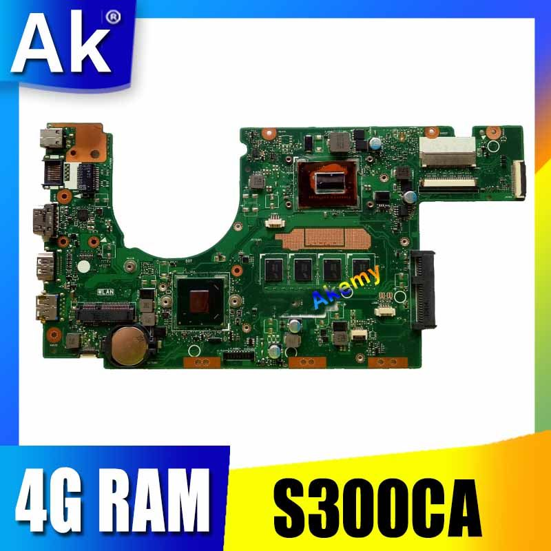 new motherboard S300CA For ASUS S300CA VivoBook S300C Laptop motherboard S300CA mainboard I3CPU REV2.1 4G RAMnew motherboard