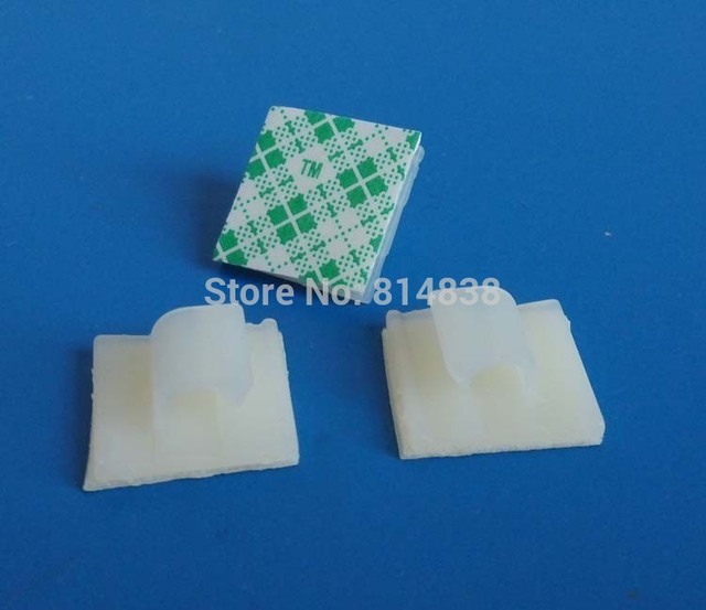 WCL 0505 White Nylon Plastic Self Adhesive Tie Mount Wire Saddle ...