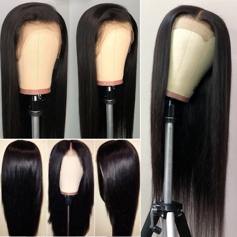 Image 2 - Celie Hair Lace Front Human Hair Wigs Pre Plucked Brazilian Straight Lace Front Wig 150 180 250 Density 360 Lace Frontal Wig-in Human Hair Lace Wigs from Hair Extensions & Wigs
