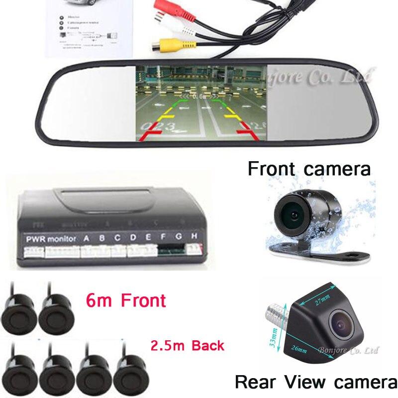цена на 4.3 inch Car Monitor Video Car parking Sensor Show Distance Front & back Car camera Parktronic System Reverse radar for any car