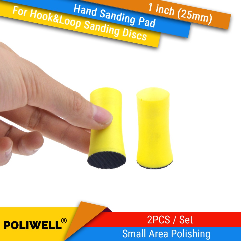 1 Inch (25mm) PU Foam Hand Hook & Loop Back-up Sanding Pad  Abrasive Tools For Woodworking Small Area Accurately Polishing