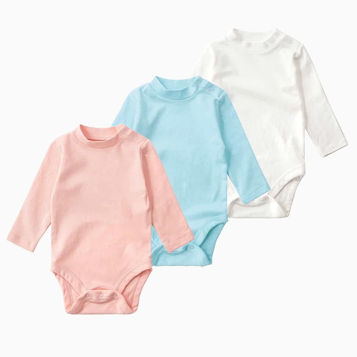 Newborn Pure Color Bodysuit 2018 Autumn 100 Cotton