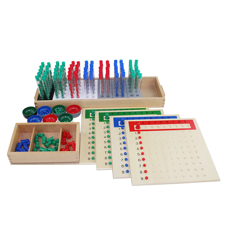 Montessori Baby Wooden Educational Toys Mathematics Learning Preschool Teaching Aids Test Tube Long Division Board - 6