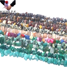 OMH Wholesale 3-5MM Natural Stone Irregular Shape Bead Tiger Eye Amethysts Agates Lapis lazuli Jewelry Making DIY NecklaceZZ06