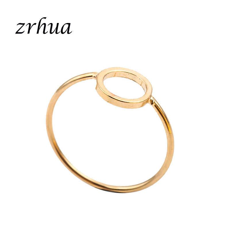 ZRHUA מותג הטוב ביותר חברים גיאומטרי טבעת אנל Feminino אמצע אצבע Knuckle הבוהן Bague ידידות נצחית לנצח הטוב ביותר מתנות