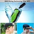 8GB Diving Waterproof Swimming MP3 Player IPX8 Water Swim Mini Usb Clip Digital MP3 Music Player Earphones Sport Music Player