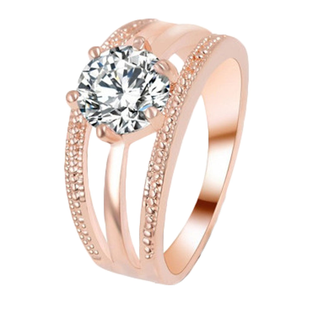 1pcs Women Classic Romantic Rings Engagement Multilayer Six Claw Cubic  Zirconia Wedding Rings Nice Gift For