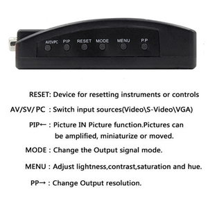 Image 2 - BNC vga ビデオコンバータ S ビデオ入力に PC の VGA 出力アダプタデジタルスイッチャー Pc のテレビカメラ DVD DVR