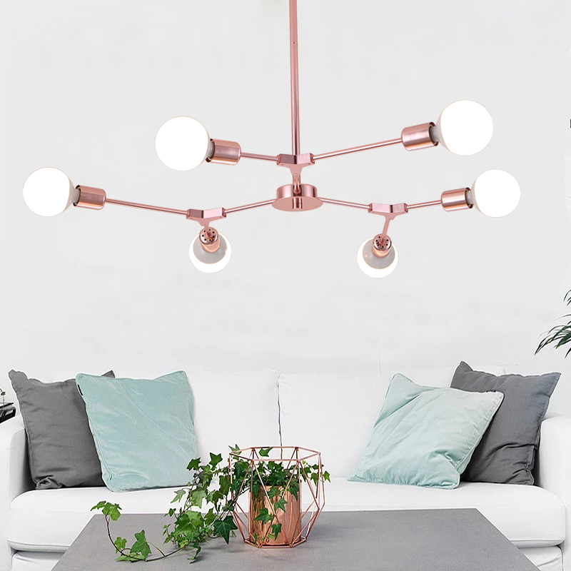 LED Pendant Light Modern Nordic Style Indoor Living Room Dining Room Pendant lamp Home Decoration Lighting E27 Without Bulbs nordic modern 6 arm pendant light creative steel spider pendant lamps unfoldable living room dining room lamp e27 led lamp
