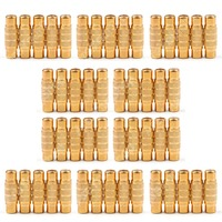 50 Pcs Gold RCA AV Audio Video Female To Female Coupler Connector Extension
