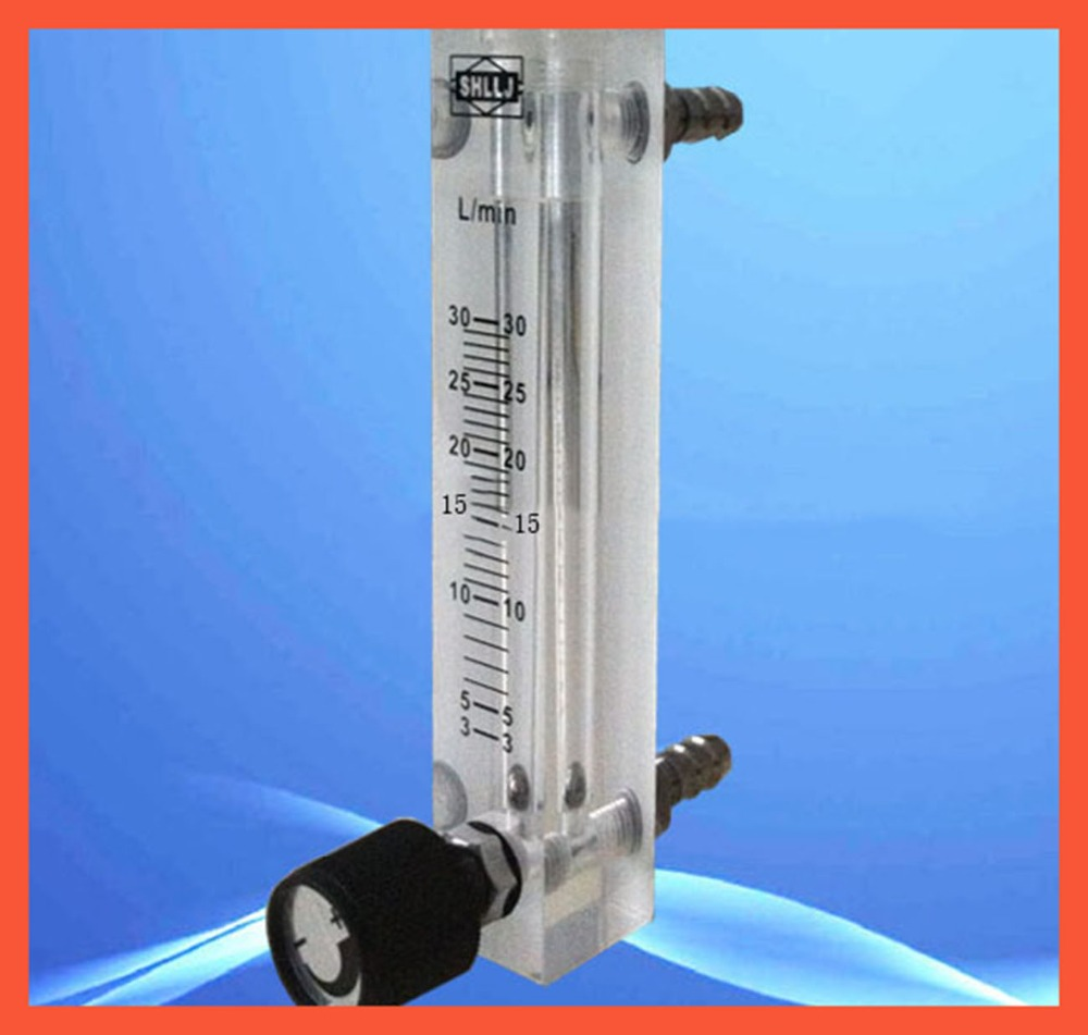 LZQ-7(3-30)LPM air flow meter (H=120mm gas flow meter)with control valve for Oxygen conectrator ,it can adjust flow lzb 3 glass rotameter flow meter with control valve for liquid and gas conectrator it can adjust flow lzb3 tools measurement
