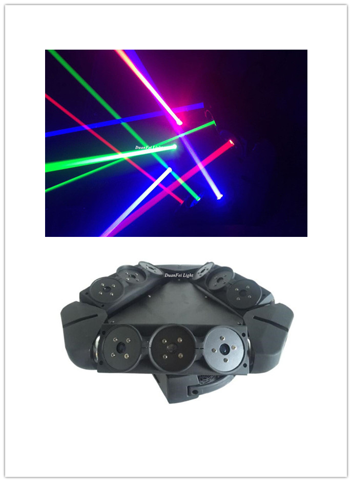 dunfly duanfei light 2pcs lot spider laser moving head laser 3x3