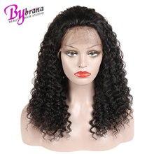 Фронтальный Реми Бразильский Кудрявый Вьющиеся Волосы Парик Волос 13x4 Дюймов Фронта Шнурка 100%