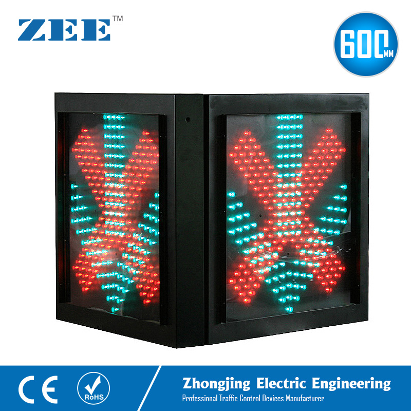 Double Side 600mm LED Traffic Light Toll Station High Way Traffic Signal Light Red Crossing And Green Arrow Signals