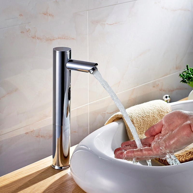 Brass Touch Free Infrared Basin Tap Automatic Sensor Faucet Sink Taps Touchless Bathroom Sink