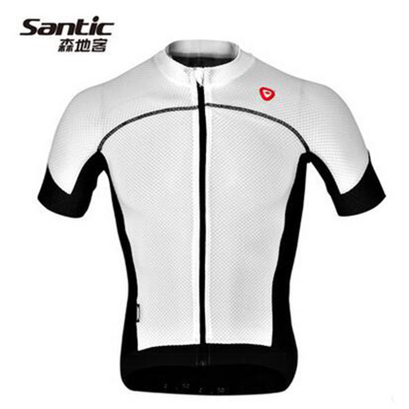 Santic Cycling Jersey Short Sleeve Jersey Mens Bicycle Summer Breathable Quick Dry Men Sport Downhill Bike Reflective SK0027 santic cycling men s downhill ridet shirt long jersey long sleeve white