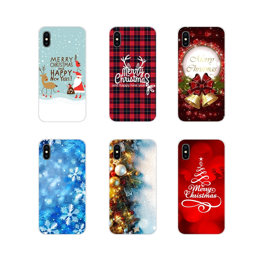 For <font><b>Samsung</b></font> Galaxy S3 S4 S5 Mini S6 <font><b>S7</b></font> Edge S8 S9 S10 Lite Plus Note 4 5 8 9 <font><b>Case</b></font> Cover happy New Year merry Christmas Tree Snow image