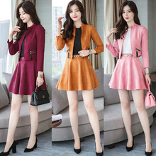 New Brand Designer Runway Pink Skirt Suit High Quality Long Sleeve Blouse Top and Pleated Skirt Suit Women Twinset Clothing Set stylish short sleeve pink knitwear and floral skirt women s suit