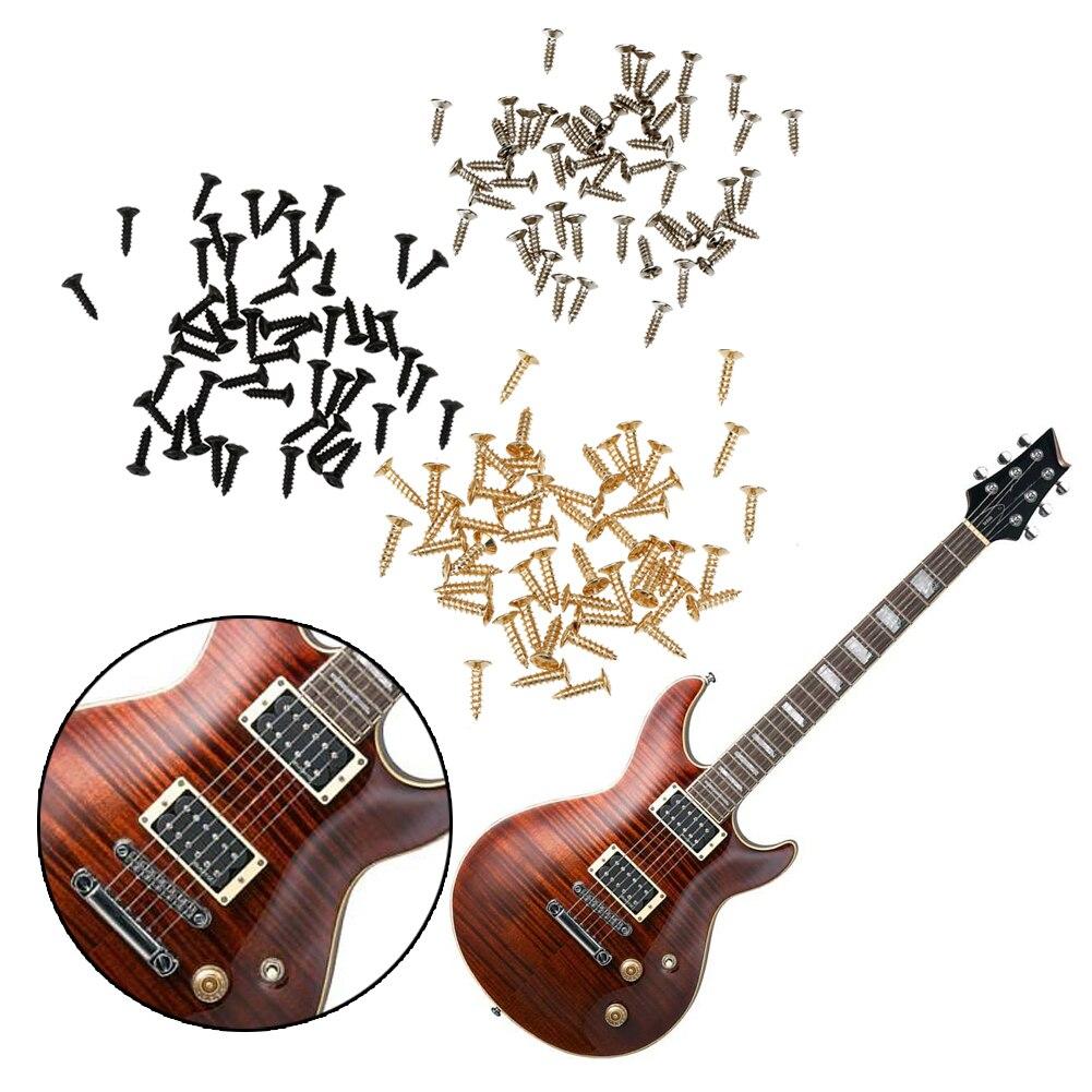 50 יחידות פנל בורג בורג שומר גיטרה חשמלית גיטרה אקוסטית בס חשמלי מוסיקלי כלי מיתר חלקי חילוף ואבזרים