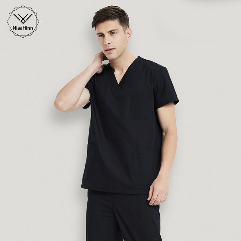 Cotton Medical Clothing Women Surgical Tops Fashion Solid Scrubs Work Wear & Uniforms Hospital Medical Uniforms Nurse Uniform