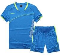 New Paintless Mens Boys Breathable Football Jerseys Soccer Training Kits Suits Custom Football Jerseys Kits Sports