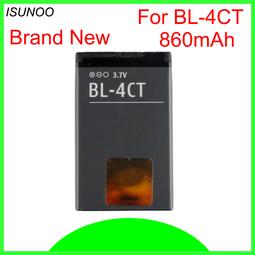 ISUNOO 860mAh Battery BL-4CT BL4CT BL 4CT For Nokia 5310 6700S X3 X3-00 7230 7310C 5630 2720 2720A 7210C 6600F Battery(China)