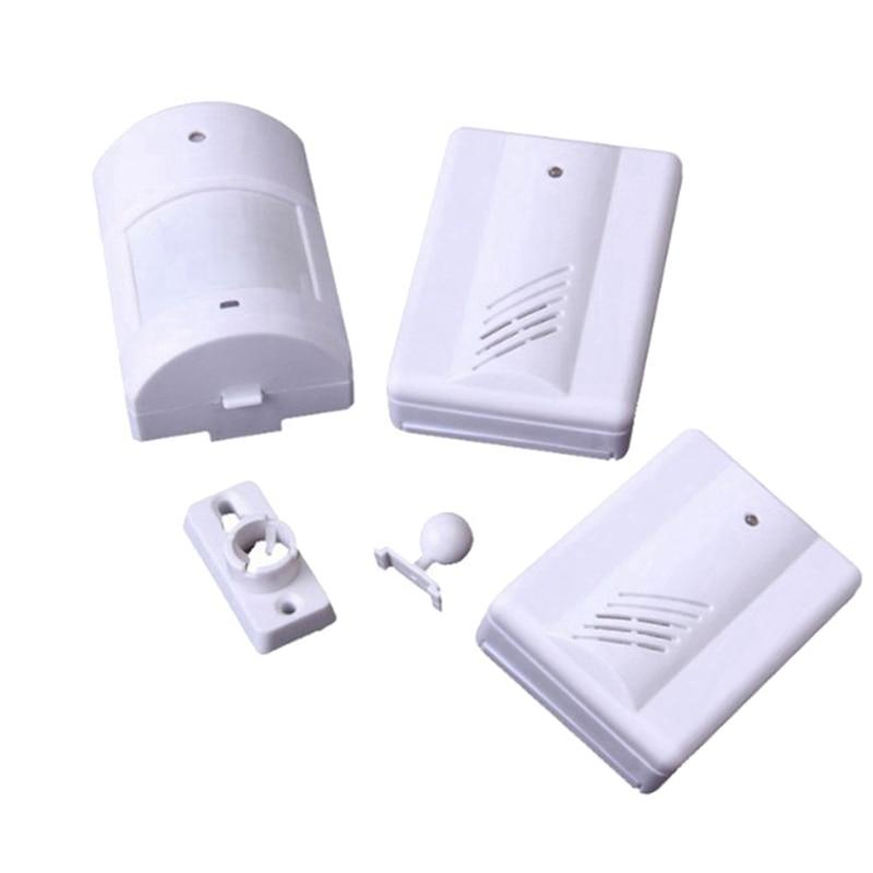 Topvico Pir Infrared Motion Sensor Detector Alarm 2 Receivers Doorbell 90db Music Wireless Store Home