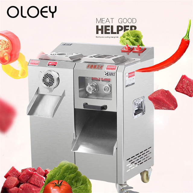 Chopping Meat Slicer Commercial Appliances Stainless Steel High Power Detachable Electric Slicer Shred Ground Meat Enema Machine 1