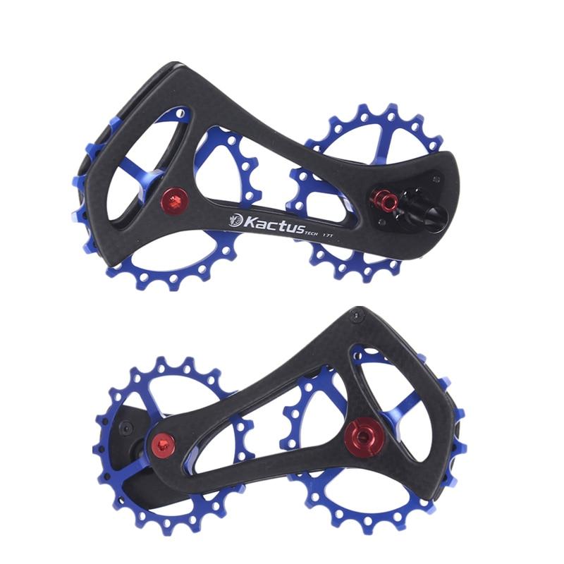 17T Carbon Fiber Bike Rear Derailleur Pulleys 68g Ultralight Ceramic Bearing Bicycle Jockey Wheel For Shimao