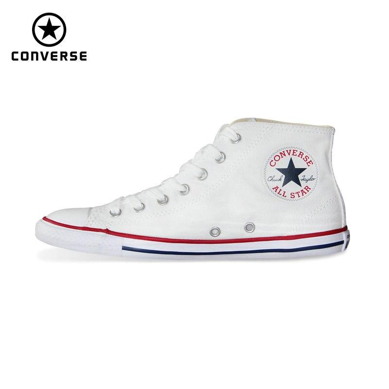 Новые оригинальные Converse All Star весна лето тонкие Подошвы женские кроссовки высокие туфли из текстиля Скейтбординг обувь