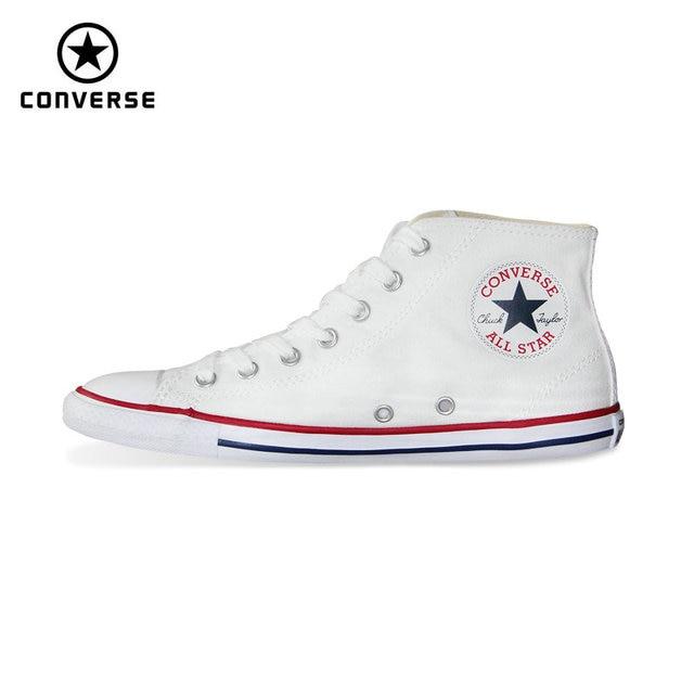 0b8326dc494 Nieuwe Originele Converse All Star Lente zomer dunne zolen sneakers vrouwen  hoge canvas schoenen Skateboarden Schoenen