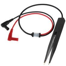 Золотое покрытие тестовый зажим для резистора индуктор поверхностного монтажа щуп тестера индуктивность чип SMT Пинцет Конденсатор Автомобильный цифровой