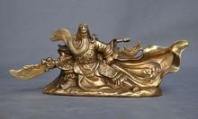christmas China Famous Generals brass copper Dragon Guan Gong Yu warrior God Statue halloween