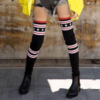 Women Boots flat over the knee high women snow boots Slim fashion winter thigh high boots Sexy cheerleader shoes woman ALFG1588