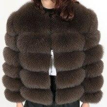 จริงขนสุนัขจิ้งจอกหญ้าผู้หญิงฤดูหนาวขนสัตว์ธรรมชาติแฟชั่น silm เสื้อหนัง Coat