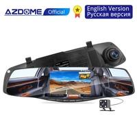 AZDOME PG06 4.3 Mirror Dash Cam Dual Lens 1080P Front VGA Backup Car DVR Dashcam Vehicle camera for car recording