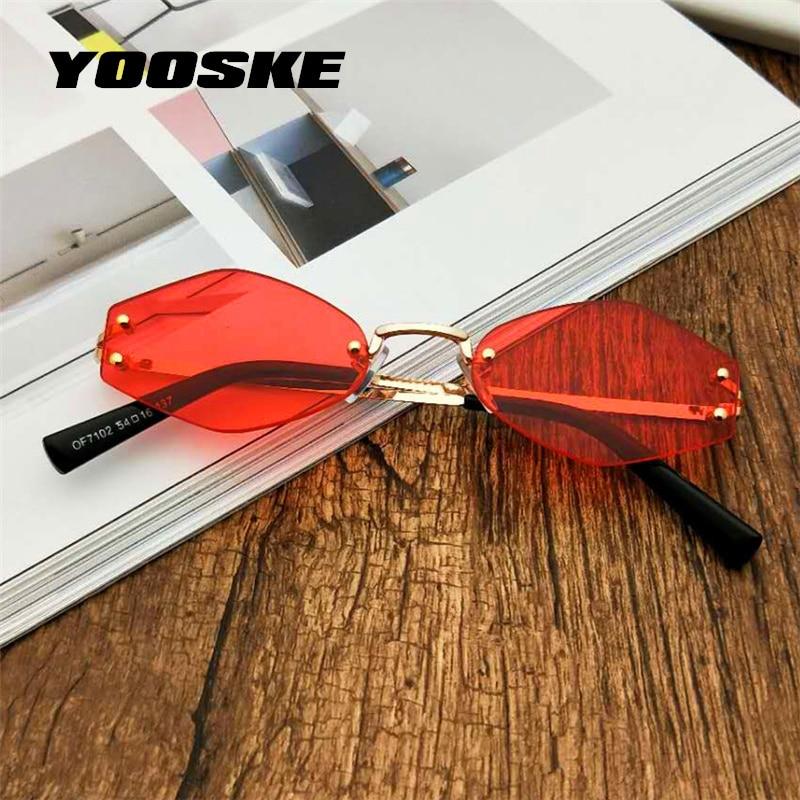 YOOSKE Moda Pequenos Óculos De Sol Olho de Gato Mulheres Óculos de Sol Dos  Homens 2018 f7c2813c6e
