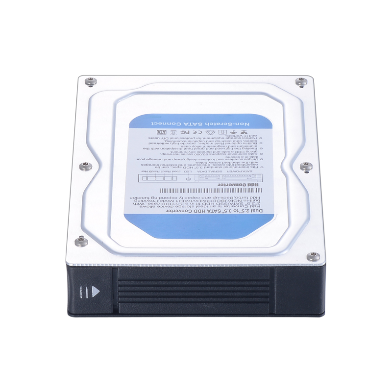 Dual bay 2.5 inch to 3.5 inch hdd converter enclosure support raid model with hot-swap rs232 to rs485 converter with optical isolation passive interface protection