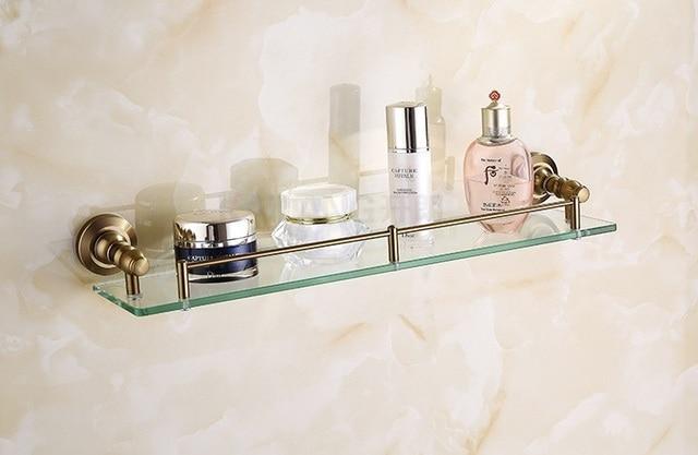 Aliexpress.com : Buy Antique bathroom glass shelf brass material ...