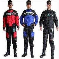 Духан D020 гонки пиджак Брюки для девочек мужчины Мотокросс мотоциклетные одежда Куртки штаны падение сопротивления
