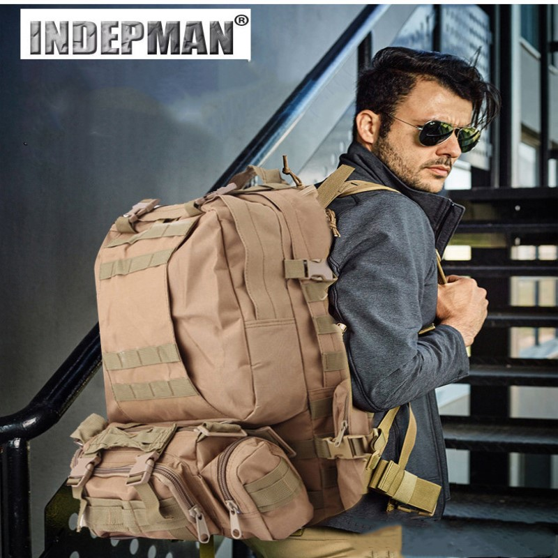 55L Military Tactical Assault Pack Backpack Army Molle Waterproof Bug Out Bag Small Rucksack for Outdoor Hiking Camping Hunting baigio men backpack military molle assault backpack 3 way modular attachments 50l waterproof bag rucksack male travel bags