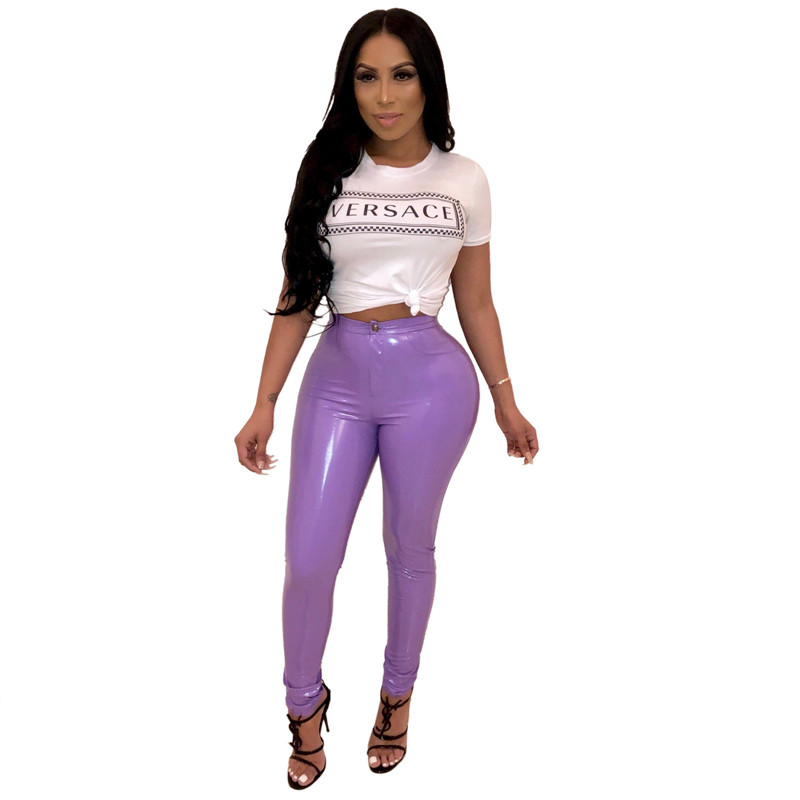 Adogirl New Colors Solid PU Leather Pants Highly Stretchy Thicken Fleece PU Trousers Women Fashion Casual Pencil Pants Leggings Pants & Capris Women Bottom ! Plus Size Women's Clothing & Accessories