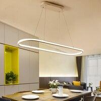 Двойной Glow обеденный Кухня комнаты люстра High Яркость Алюминий Современные светодиодные люстры светильники Бесплатная доставка