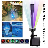 40W 2000lph Electric Submersible Water Pump With 15 PCS Color Changing LED For Fountain Garden Pump