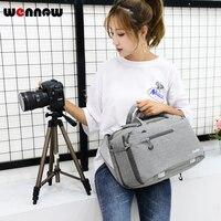 wennew DSLR bag Waterproof Camera Bag Fashion Shoulder Sling Backpack Case For Canon EOS 5D Mark IV II III 7D 6D 5D4 3000D