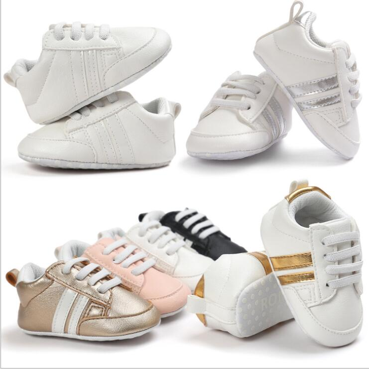 New Romirus Autumn infant baby moccasins anti-slip PU Leather first walker soft soled Newborn girls boys Baby sneakers 0-18M