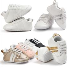 New Infant Baby Moccasins Anti-slip Shoes 0-18M