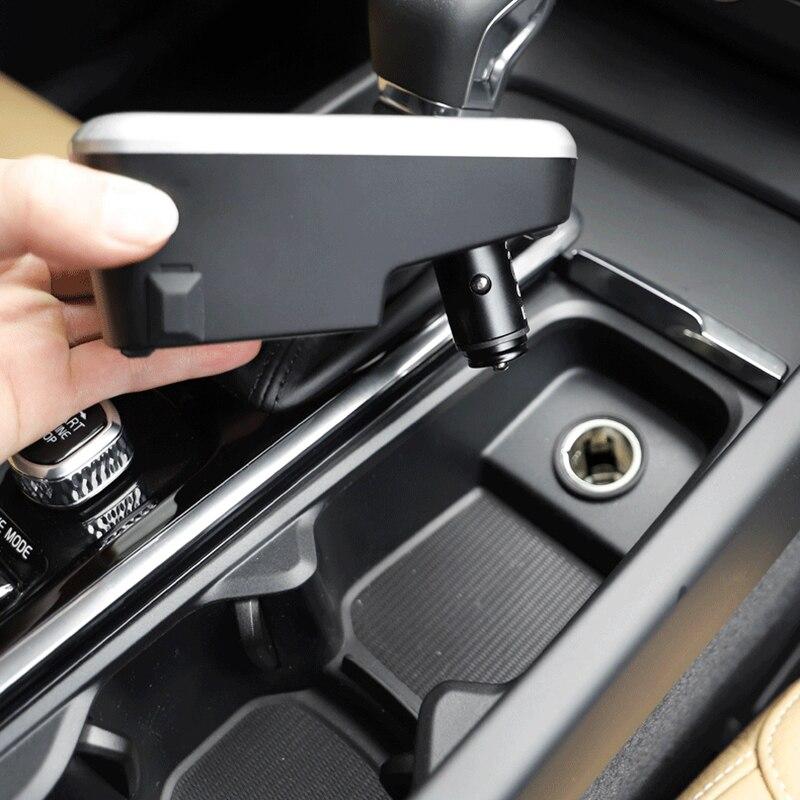 Voiture QI chargeur sans fil pour Volvo XC60 C60 V60 XC90 S90 V90 2018 2019 plaque de charge chargeur de téléphone portable accessoires pour iPhone - 2