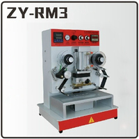 1PC ZY RM3 Pneumatic Hot Stamping Machine Leather Embossing LOGO Branding Machine 220V Vertical