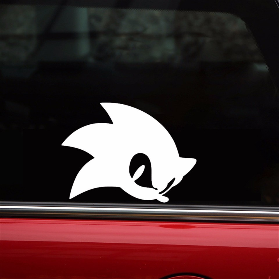 13 4 10cm Cartoon Game Sonic Hedgehog Decal Stickers Bumper Car Window Glass Decorative Sticker Fashion Creative Auto Stickers Aliexpress